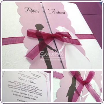 Invitatie nunta cu plic de la Simonne