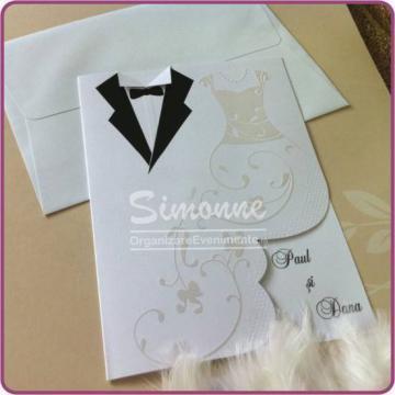 Invitatii nunta cu plic de la Simonne
