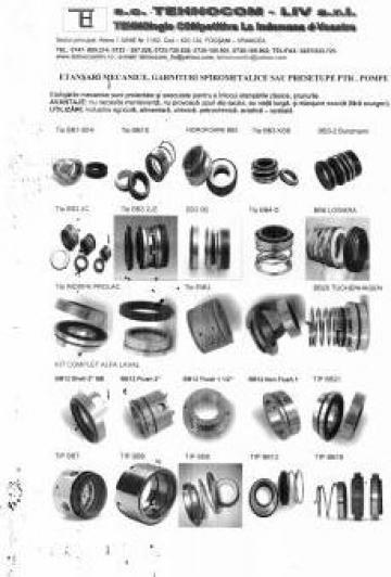 Garnituri mecanice, etansari mecanice, presetupe de etansare