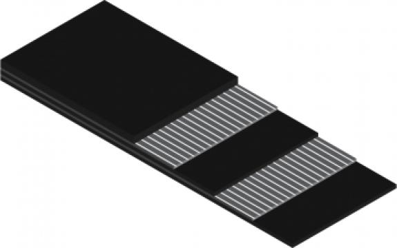 Banda cauciuc insertie metalica de la Elastimpex