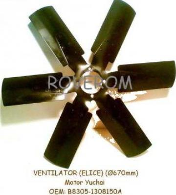Ventilator (elice D=670mm) motor Yuchai, YTOLT214 de la Roverom Srl