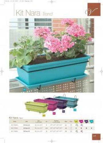Jardiniere cu suport fier de la Exclusive Garden Srl