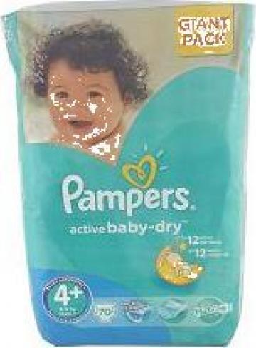 Scutece copii Pampers Active Baby-Dry, 4+ (9-20 kg) Giant de la Roem Sp. Z O.o.