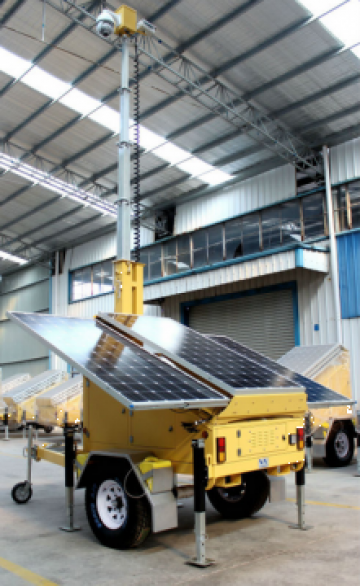 Remorca auto sistem electric solar pentru supraveghere video de la Samro Technologies Srl
