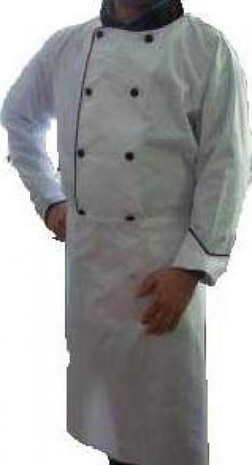 Uniforma de bucatar alba din tercot de la Johnny Srl.