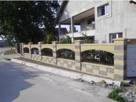 Gard modular din beton de la Prefabet Srl