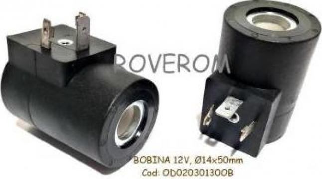Bobina 12V, D14x50mm, electrovalva hidraulica