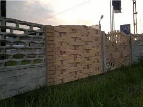 Gard beton cu lemn impletit 30/2, 30/1, 30/1 de la Amonra Sun Srl