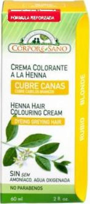 Vopsea henna crema, semipermanenta Blond, 60 ml de la PFA Kozma Andrea Eva