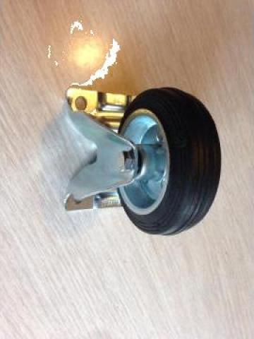 Roata pivotanta din cauciuc cu diam. de 200 de la Baza Tehnica Alfa Srl