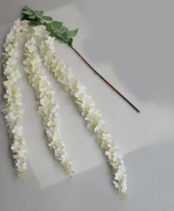 Floare artificiala glicina alba inflorita (wisteria) de la
