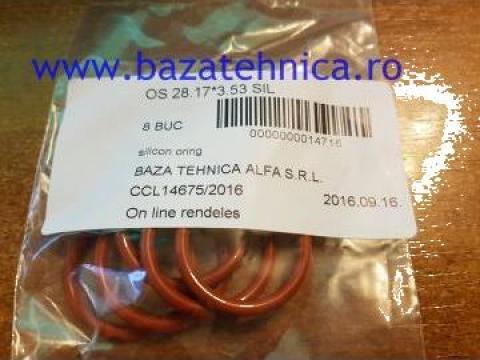Oring din cauciuc siliconic fi 28.17 x 3.53 mm de la Baza Tehnica Alfa Srl