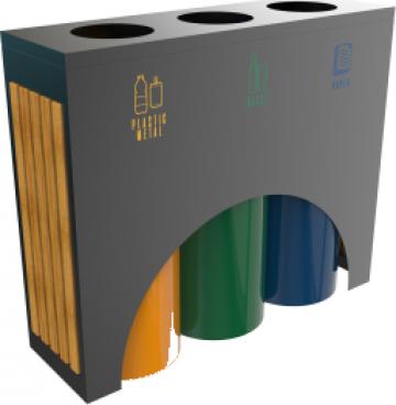 Cosuri moderne de reciclare cu lemn ELM PCW 3x60L de la Forward Support Srl