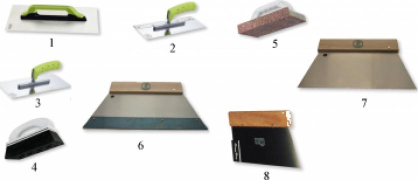 Instrumente de gletuit, slefuit sau nivelat