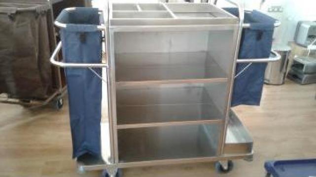 Carucior inox transport lenjerie de la Tehnic Clean System