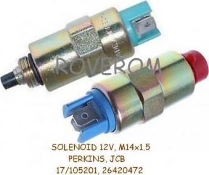 Solenoid 12v, pompa injectie Perkins, JCB 3CX, 4CX
