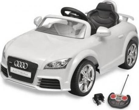 Jucarie masina pentru copii cu telecomanda, alb Audi TT RS