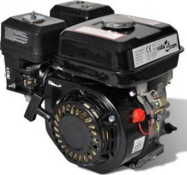 Motor pe benzina 4,8 kw negru de la Vidaxl