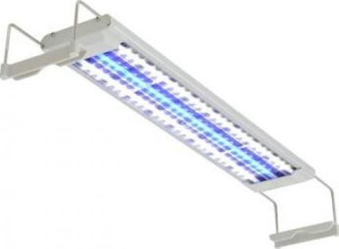 Lampa LED de acvariu aluminiu 50-60 cm IP67 de la Vidaxl