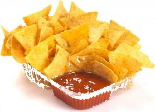 Tavite nachos transparente mari 2 compartimente 500 buc/bax de la Cristian Food Industry Srl.