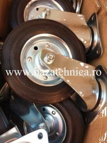 Roata pivotanta fi 200 latime 50 mm, placa 137x105 mm de la Baza Tehnica Alfa Srl