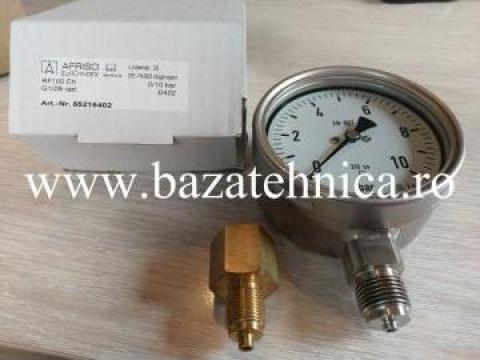 Manometru radial uscat inox 100 mm 0-10B de la Baza Tehnica Alfa Srl