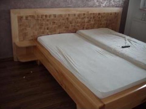 Pat din lemn masiv de fag