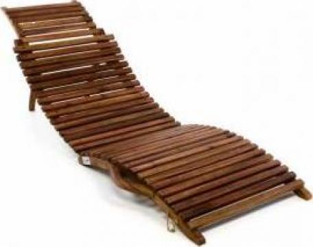 Sezlong pliabil din lemn de salcam Divero