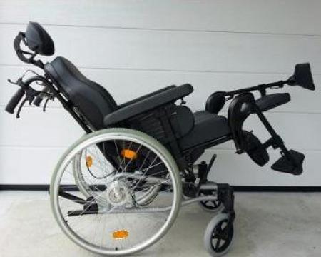Carucior handicap triplu - rabatabil, unghi picior reglabil de la Ortopedia Transilvania