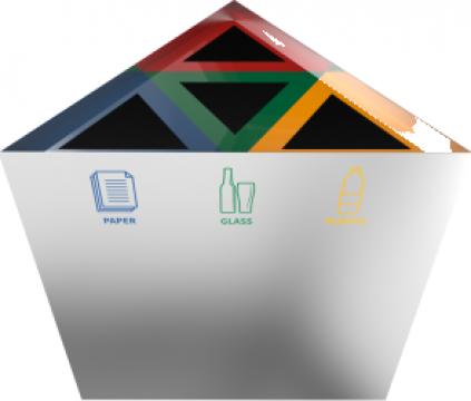 Cos de gunoi triunghiular din inox Kunka SST de la Forward Support Srl