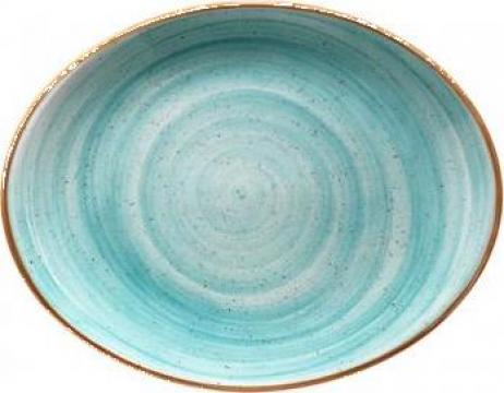 Farfurie ovala portelan Bonna-Aqua 31cm de la Basarom Com