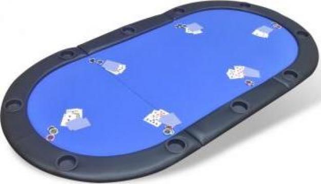 Blat de masa de poker pentru 10 jucatori, pliabil