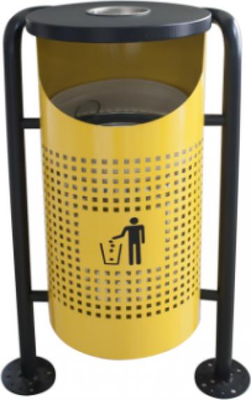 Cos de gunoi in exterior Icikala galben 36x36x91cm de la Basarom Com