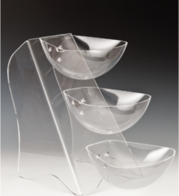 Display policarbonat 3 nivele cu 3 boluri de la Basarom Com