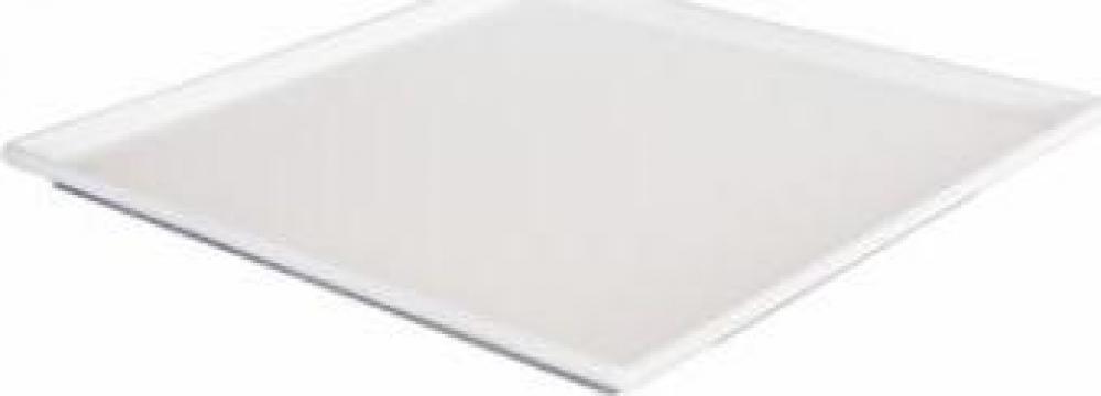 Platou patrat melamina Raki 19,5x19,5cm alb de la Basarom Com