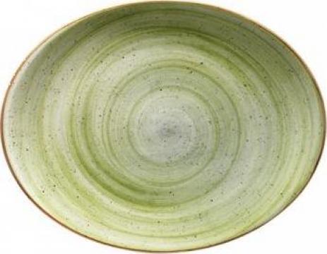 Farfurie ovala din portelan Bonna colectia Therapy 31x24cm de la Basarom Com