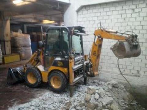 Inchiriere miniexcavator JCB 1CX Bobcat de la Trans Udroiu Srl