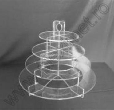 Suport inelar expunere prajituri/macarons/aperitive SPEv 1.1 de la Sc Plexi-Met Srl