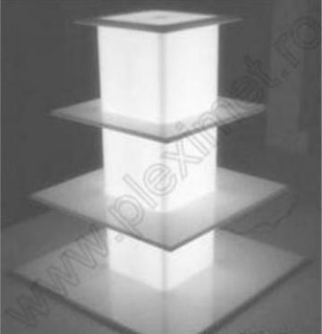 Suport turn cu 4 nivele pentru prajituri/minitorturi SPEv 6 de la Sc Plexi-Met Srl
