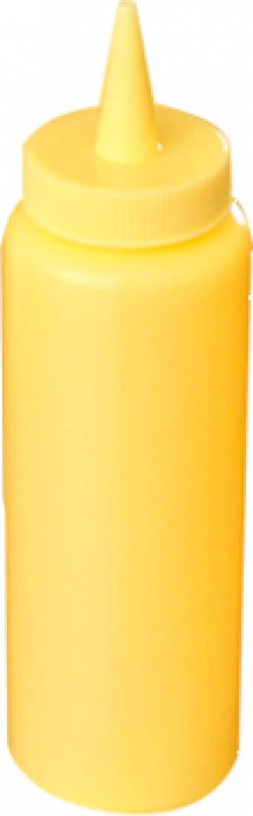Dispenser mustar 8oz galben de la Basarom Com