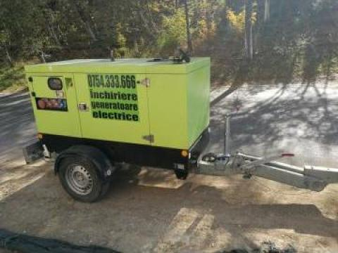Inchiriere generator (grup electrogen) 40KVA (putere 32Kw) de la 123kva Romania
