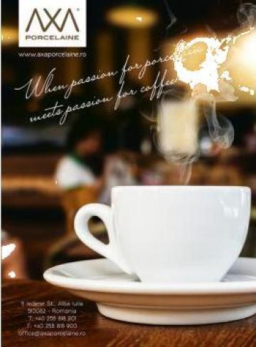 Cesti si farfurii de cafea de la Axa Porcelaine Srl