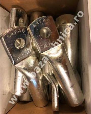 Papuc aluminiu 150 mm, M12