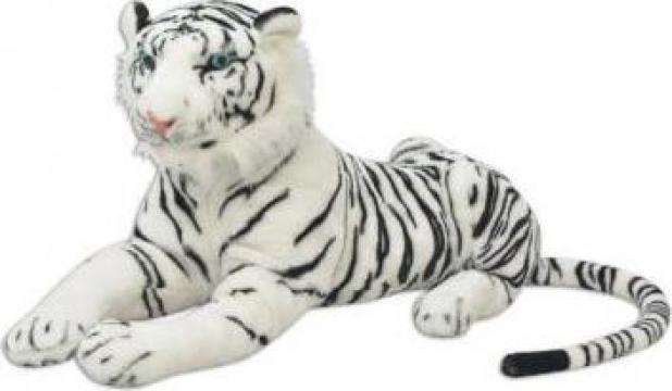 Jucarie din plus tigru, XXL, alb de la Vidaxl