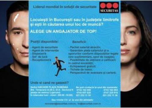 Locuri de munca in Bucuresti de la Securitas Services Romania Srl