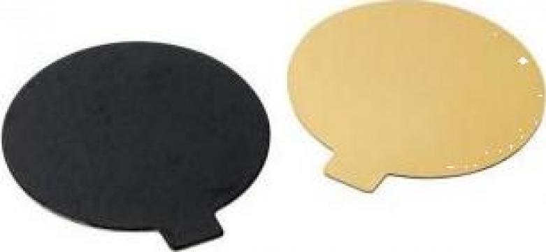 Monoportie carton auriu/negru 14cm, 100 buc/set de la Cristian Food Industry Srl.