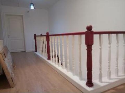 Balustrada stejar finisaj alb