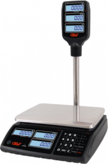 Cantar comercial Cely PI100 cu brat 6/15 kg sau 15/30 kg