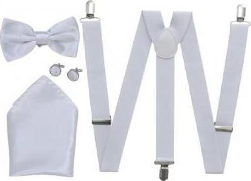 Set accesorii costum seara/frac barbati bretele & papion de la Vidaxl