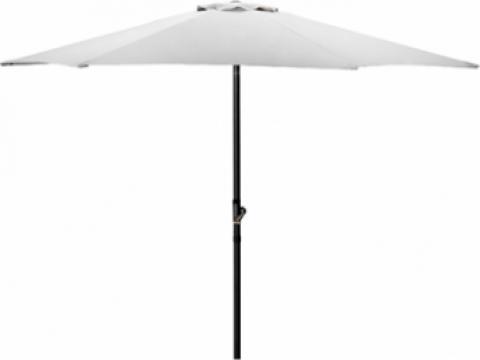 Umbrela soare 270cm culoare alba de la Basarom Com